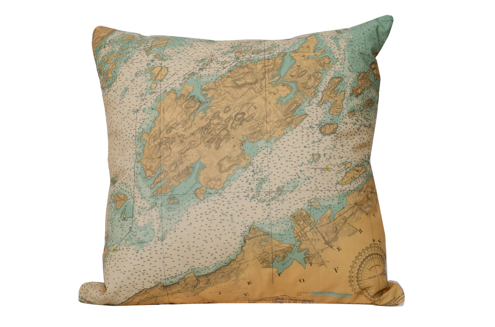Grindstone Chart Pillow