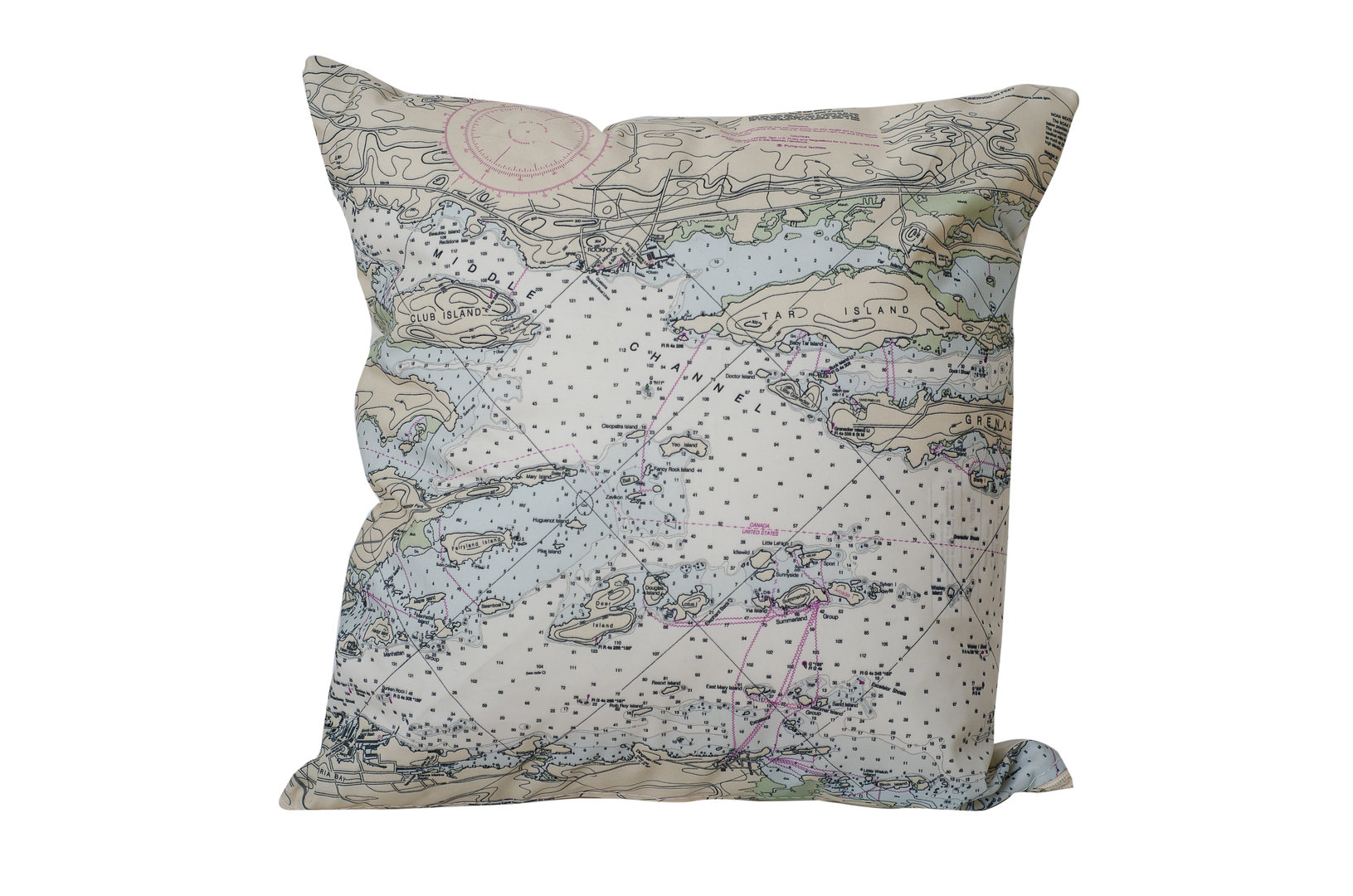 Alex Bay Chart Pillow