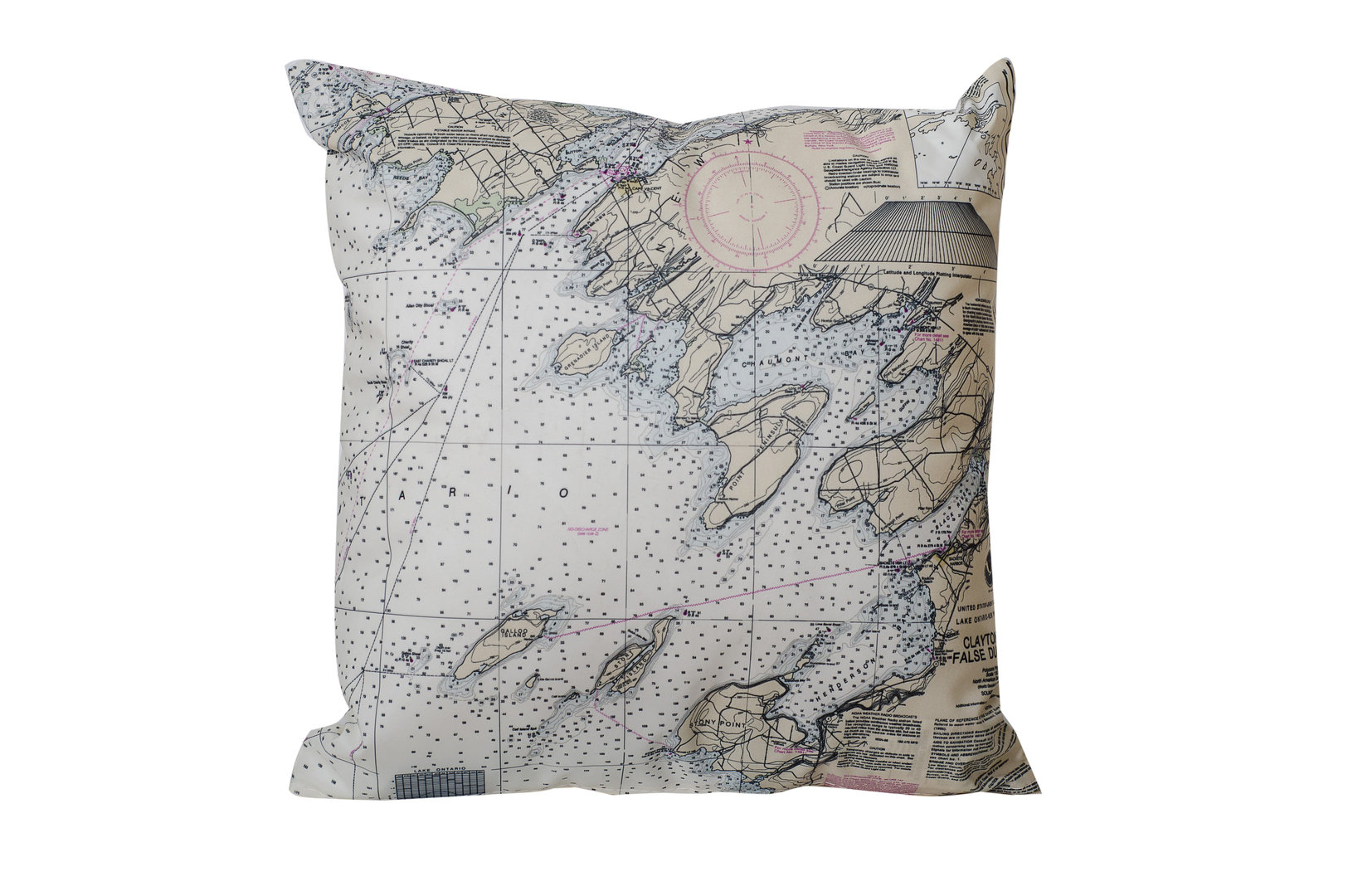 Chaumont Chart Pillow